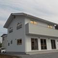 岩手県陸前高田市白を基調としたモダン住宅